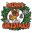 Christmas rudolph vector