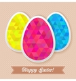 Greeting easter card with triangles eggs vector