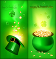 St patrick banners vector