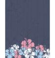 Bouquet of hibiscus on grey background vector