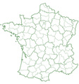 France contour map vector