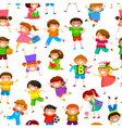 Cartoon kids pattern vector