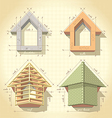 Drawing of building a house vector