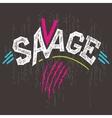 Savage t-shirt graphics vector