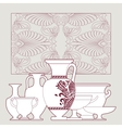 Ceramic ethnic national greek style seamless vector