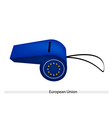 A blue whistle of the european union vector