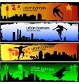 Urban skater banners vector