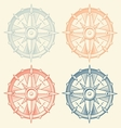 Set of vintage graphic compasses vector