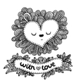 Doodle heart for valentines day vector