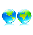 Earth map globes vector