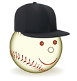Smiling baseball character vector