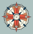 Vintage colourful graphic compass vector