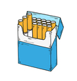 Pack of cigarettes vector
