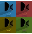 Color set talking flat modern web button with long vector