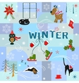 Funny winter background vector
