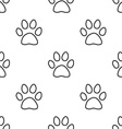 Cat footprint seamless pattern vector
