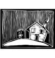 Rain house vector