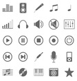 Music icons on white background vector
