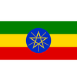 Flaf of ethiopia vector