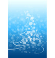 Winter and christmas background vector