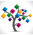 Color paper note tree vector