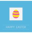 Colored easter egg dash line frame card flat desig vector