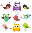 Set of cute birds vector