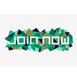 Fashion join now geometric design vector