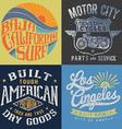 Vintage t-shirt graphic set 2 vector