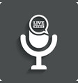 Creative live music icon microphone symbol vector