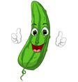 Cartoon cute cucumber giving thumbs up vector
