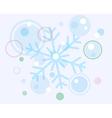 Abstract christmas snow flake and balls vector