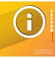 Info flat modern web button with long shadow and vector