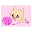 Ball cat vector