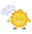 Sun smiley vector