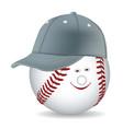 Ball in a baseball cap vector