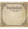 Vintage frame and grungy background vector