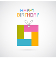 Happy birthday modern paper background vector