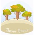 Three bottle trees vector