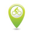Cyclist symbol map pointer green vector