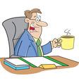 Cartoon man drinking coffee vector