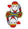 Stylized queen of hearts no card vector
