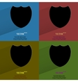 Color set shield protection flat modern web button vector