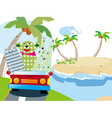 Animals vacation time vector
