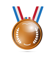 Bronze medal award isolated on white background vector