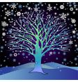 Tree in the snow vector