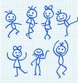 Cartoon dancing people vector
