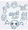 Skulldoodles vector