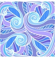 Blue abstract hand-drawn pattern vector