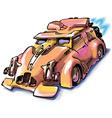 Retro jet car vector
